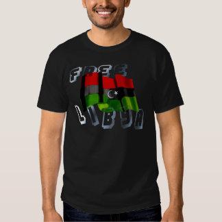 Bandera libia de la bandera de la monarquía de la remera