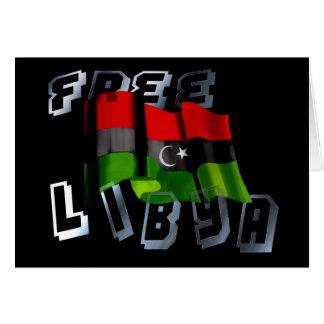 Bandera libia de la bandera de la monarquía de la tarjeta