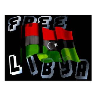 Bandera libia de la bandera de la monarquía de la postal