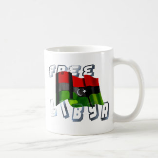 Bandera libia de la bandera de la monarquía de la tazas