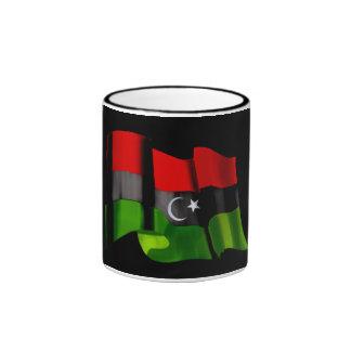 Bandera libia de la bandera de la monarquía de la taza de dos colores