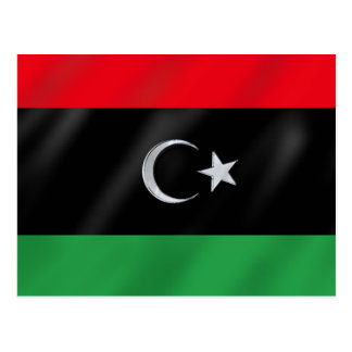 Bandera libia de la independencia - bandera libre  tarjeta postal