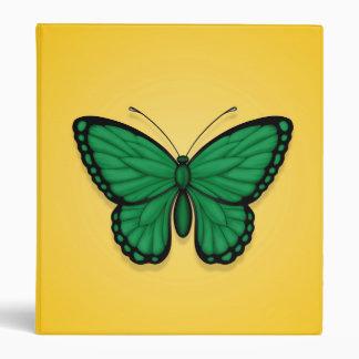 Bandera libia de la mariposa en amarillo