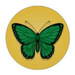 Bandera libia de la mariposa en amarillo juego de fichas de póquer