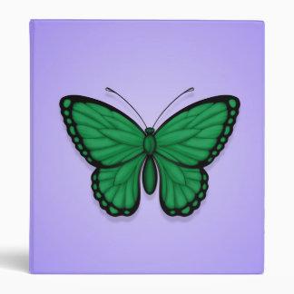 Bandera libia de la mariposa en púrpura