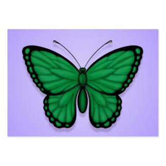 Bandera libia de la mariposa en púrpura tarjetas de visita grandes