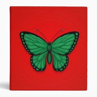 Bandera libia de la mariposa en rojo