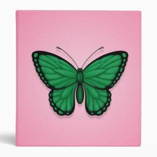 Bandera libia de la mariposa en rosa
