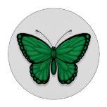 Bandera libia de la mariposa fichas de póquer