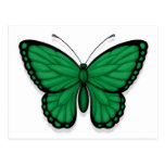 Bandera libia de la mariposa postales