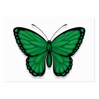 Bandera libia de la mariposa tarjetas de visita grandes
