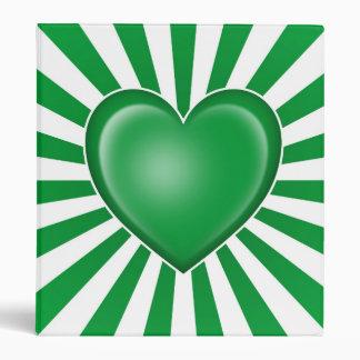 Bandera libia del corazón con los rayos de Sun