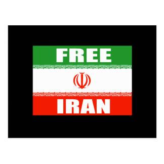 Bandera LIBRE de IRÁN Postales