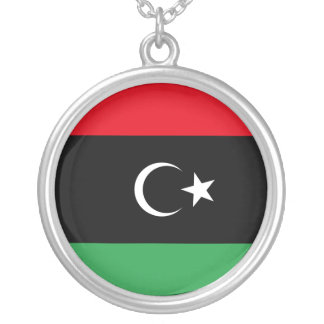 Bandera libre de Libia Colgante Redondo