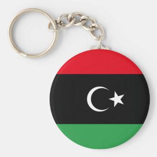 Bandera libre de Libia Llavero Redondo Tipo Pin