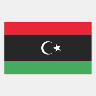 Bandera libre de Libia Pegatina Rectangular