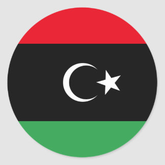 Bandera libre de Libia Pegatina Redonda