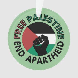 Bandera libre de Palestina del apartheid del final