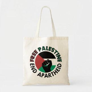 Bandera libre de Palestina del apartheid del final Bolsa Tela Barata