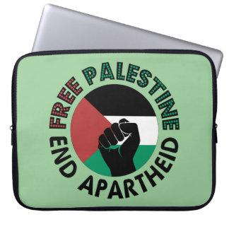 Bandera libre de Palestina del apartheid del final Fundas Computadoras