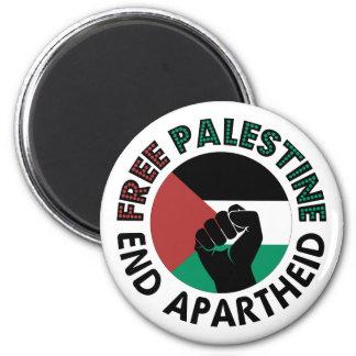 Bandera libre de Palestina del apartheid del final Imán Redondo 5 Cm