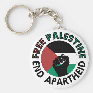 Bandera libre de Palestina del apartheid del final Llavero Redondo Tipo Pin