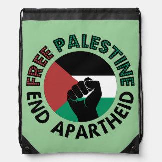 Bandera libre de Palestina del apartheid del final Mochila