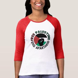 Bandera libre de Palestina del apartheid del final Camiseta