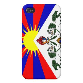 Bandera libre de Tíbet - bandera tibetana iPhone 4 Cárcasas