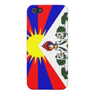 Bandera libre de Tíbet - bandera tibetana iPhone 5 Carcasas