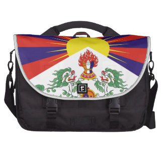 Bandera libre de Tíbet del tibetano - ་ del བཙན Bolsa De Ordenador