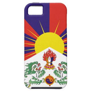 Bandera libre de Tíbet del tibetano - ་ del བཙན Funda Para iPhone 5 Tough