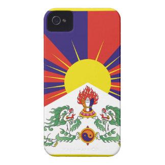 Bandera libre de Tíbet del tibetano - ་ del བཙན iPhone 4 Case-Mate Carcasa