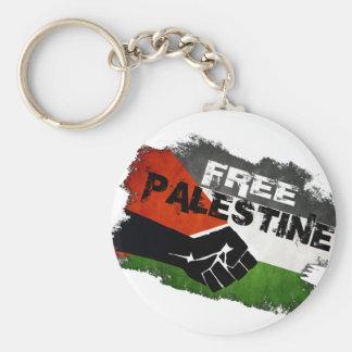 Bandera libre del Grunge de Palestina Llavero