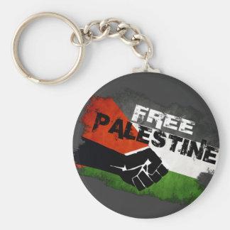 Bandera libre del Grunge de Palestina Llavero Redondo Tipo Pin