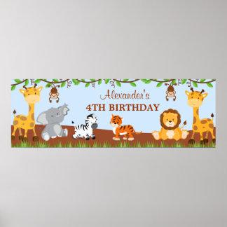 Bandera linda de la fiesta de cumpleaños de los póster