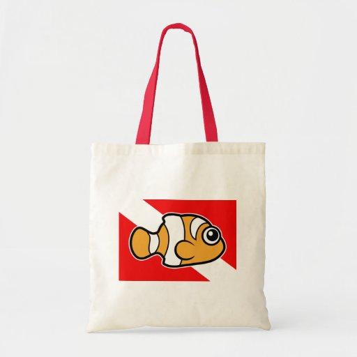 Bandera linda de la zambullida de Clownfish del di Bolsa Tela Barata