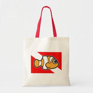 Bandera linda de la zambullida de Clownfish del di Bolsa De Mano