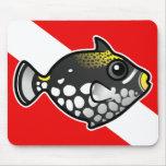Bandera linda de la zambullida del Triggerfish del Tapetes De Raton