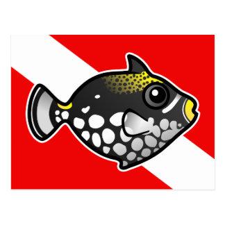 Bandera linda de la zambullida del Triggerfish del Tarjeta Postal