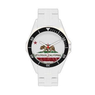 Bandera Littlerock de la república de California Relojes De Pulsera