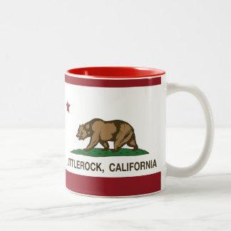 Bandera Littlerock de la república de California Tazas De Café