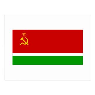 Bandera lituana de SSR Tarjeta Postal