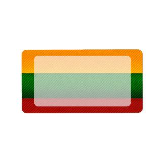 Bandera lituana pelada moderna etiquetas de dirección