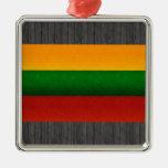 Bandera lituana pelada moderna ornamentos de reyes