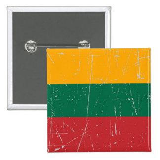 Bandera lituana rascada y rasguñada pins
