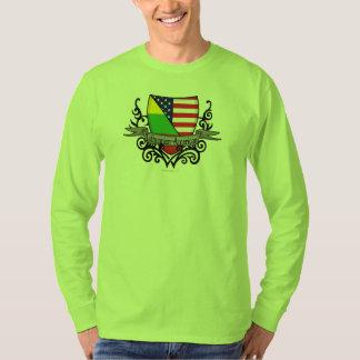 Bandera Lituano-Americana del escudo Playera