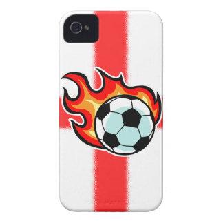 Bandera llameante de San Jorge de la bola iPhone 4 Case-Mate Protectores