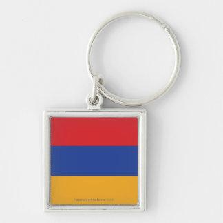 Bandera llana de Armenia Llaveros Personalizados