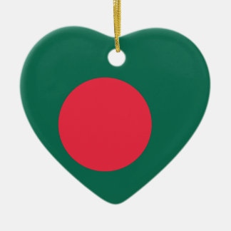 Bandera llana de Bangladesh Ornamento De Navidad